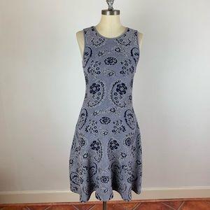 Issa London Metallic Floral Flare Dress